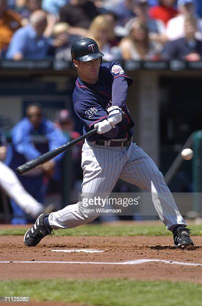Lew Ford of the Minnesota Twins bats during the game against the Kansas City Royals at Kauffman Stadium in Kansas City Missouri on April 27 2006 The...
