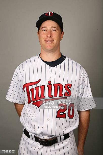 Lew Ford of the Minnesota Twins poses during photo day at Hammond Stadium on February 26 2007 in Ft Myers Florida