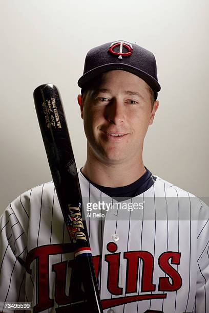 Lew Ford of the Minnesota Twins poses during Photo Day on February 26 2007 at Hammond Stadium in Fort Myers Florida