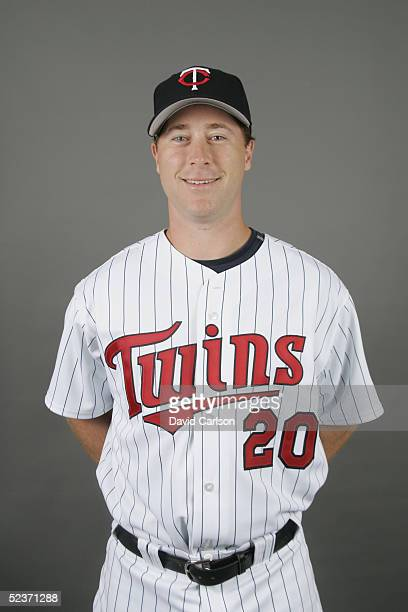 Lew Ford of the Minnesota Twins poses for a portrait during photo day at Hammond Stadium on February 28 2005 in Ft Myers Florida