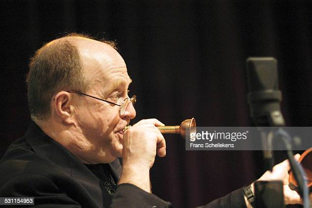 Lew Soloff, trumpet, performs on May 11th 2003 at the BIM huis in Amsterdam, the Netherlands.