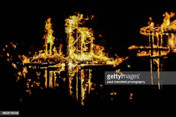 lewes bonfire night - guy fawkes stock photos and pictures
