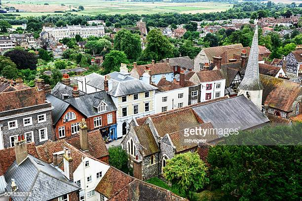 Lewes high street from above