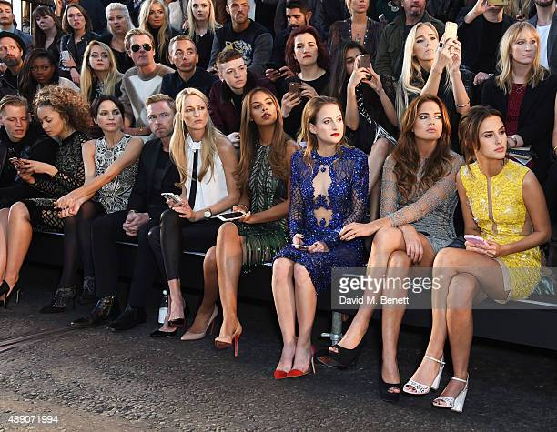 Lewi Morgan Ella Eyre Andrea Corr Ronan Keating Storm Keating Rochelle Humes Rosie Fortescue Binky Felstead and Lucy Watson sit in the front row at...