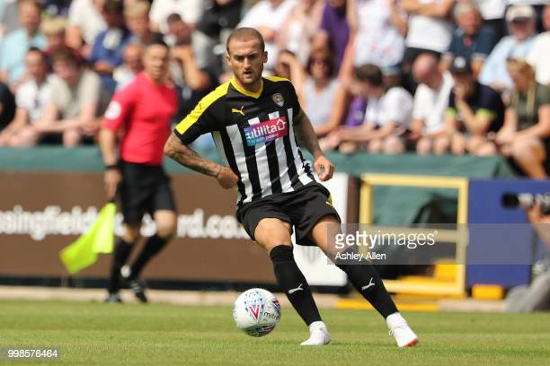 Lewis Alessandra of Notts County during a PreSeason match between Notts County and Derby County at Meadow Lane Stadium on July 14 2018 in Nottingham...