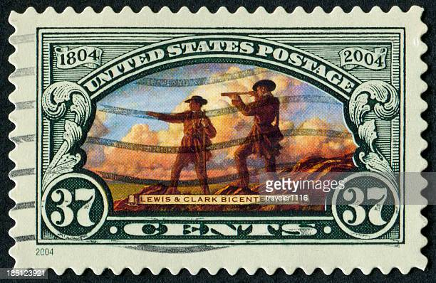 lewis and clark stamp - meriwether lewis stock photos and pictures