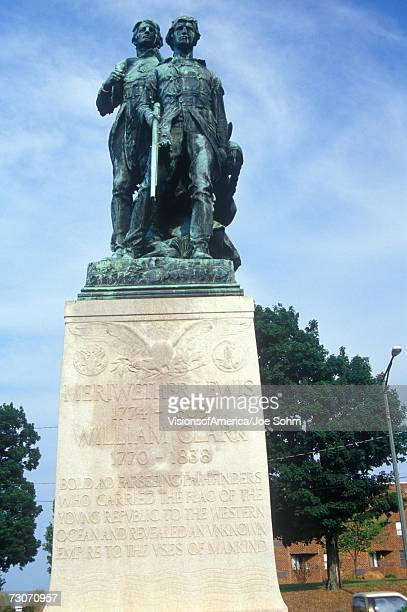 """""""lewis and clark statue in charlottesville, virginia"""" - meriwether lewis stock photos and pictures"""