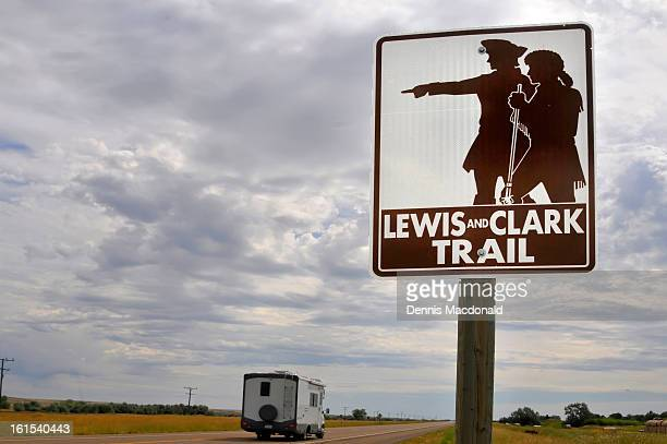 lewis and clark trail, us route 2, montana - meriwether lewis stock photos and pictures