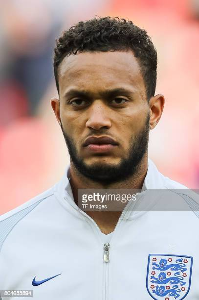 Lewis Baker of England looks on during the UEFA European Under21 Championship Semi Final match between England and Germany at Tychy Stadium on June...
