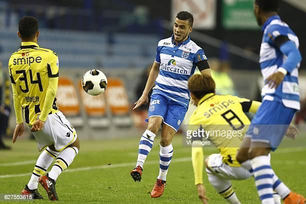 Lewis Baker of Vitesse Arnhem Mustafa Saymak of PEC Zwolle Kosuke Ota of Vitesse Arnhem Kingsley Ehizibue of PEC Zwolleduring the Dutch Eredivisie...