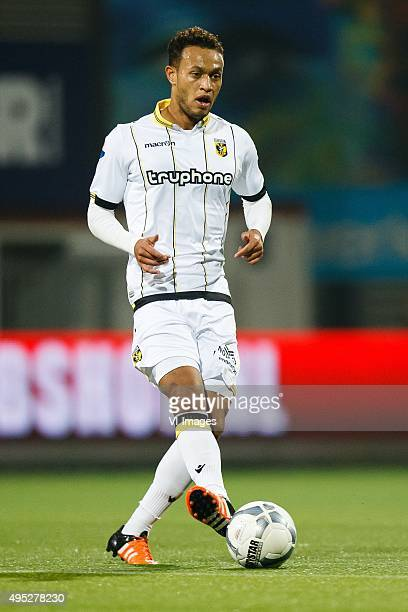 Lewis Baker of Vitesse during the Dutch Eredivisie match between Excelsior Rotterdam and Vitesse Arnhem at Woudenstein stadium on October 31 2015 in...
