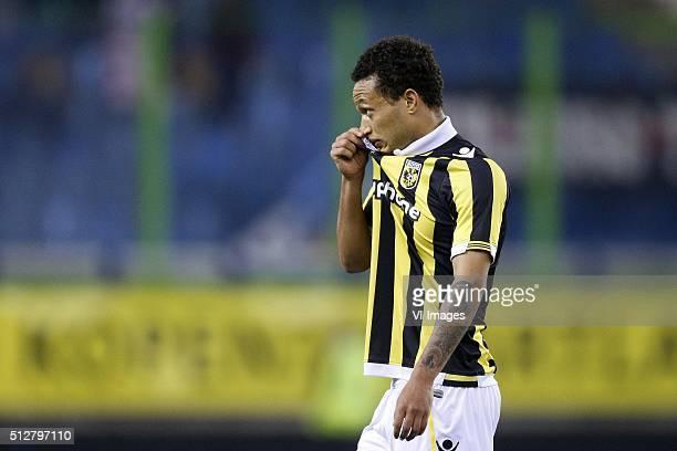 Lewis Baker of Vitesse during the Dutch Eredivisie match between Vitesse Arnhem and Willem II Tilburg at Gelredome on February 27 2016 in Arnhem The...