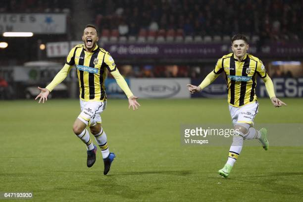 Lewis Baker of Vitesse Milot Rashica of Vitesseduring the Dutch Cup semi final match between Sparta Rotterdam and Vitesse Arnhem at the Sparta...