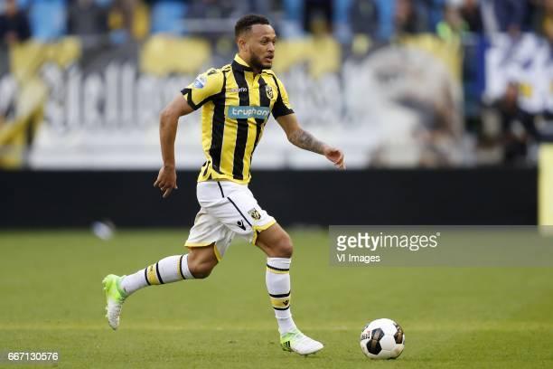 Lewis Baker of Vitesseduring the Dutch Eredivisie match between Vitesse Arnhem and sc Heerenveen at Gelredome on April 08 2017 in Arnhem The...