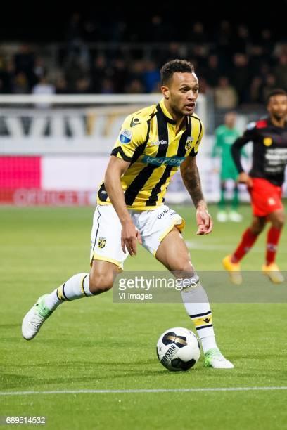 Lewis Baker of Vitesseduring the Dutch Eredivisie match between sbv Excelsior Rotterdam and Vitesse Arnhem at Woudenstein stadium on April 15 2017 in...