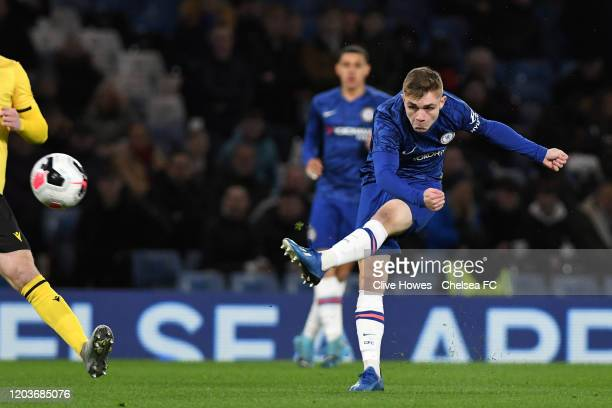 Lewis Bate of Chelsea during Chelsea v Millwall FA Youth Cup Quarter Final the at Stamford Bridge on February 27 2020 in London England