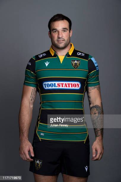 Lewis Bean of Northampton Saints poses for a portrait during the Northampton Saints squad photocall for the 20192020 Gallagher Premiership Rugby...