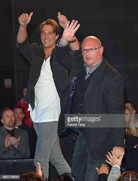 Lewis Bloor and James Whale become the 5th and 6th housemates evicted from Celebrity Big Brother 2016 at Elstree Studios on August 19 2016 in...