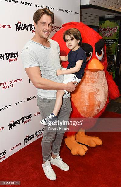Lewis Bloor attends the UK gala screening of Angry Birds at Picturehouse Central on May 7 2016 in London England