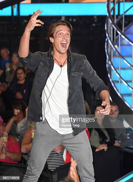 Lewis Bloor becomes the 5th housemate evicted from Celebrity Big Brother 2016 at Elstree Studios on August 19 2016 in Borehamwood England