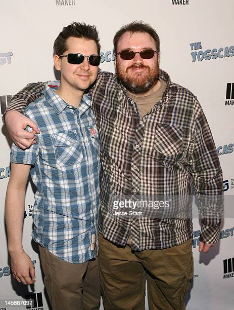 Lewis Brindley and Simon Lane attend The Yogscast E3 PreGame Party by The Game Station and Maker Studios at Drai's Hollywood on June 6 2012 in...
