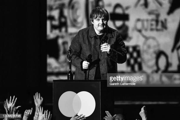 Lewis Capaldi accepts the Best New Artist award during The BRIT Awards 2020 at The O2 Arena on February 18 2020 in London England