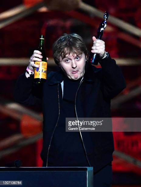 Lewis Capaldi accepts the Song of the Year Award during The BRIT Awards 2020 at The O2 Arena on February 18, 2020 in London, England.
