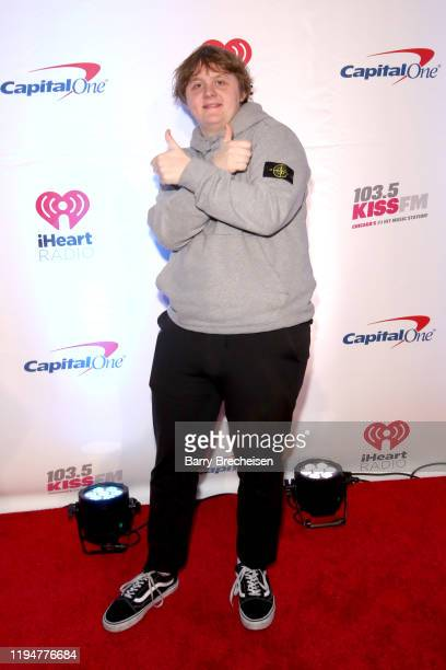 Lewis Capaldi attends the 1035 KISS FM's Jingle Ball 2019 on December 18 2019 in Chicago Illinois