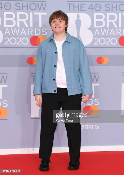 Lewis Capaldi attends The BRIT Awards 2020 at The O2 Arena on February 18, 2020 in London, England.