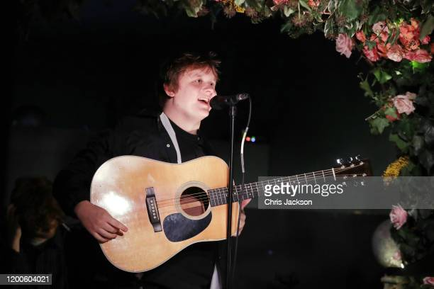 Lewis Capaldi performs as Sentebale held an event on January 19 hosted by Mr Mrs Caring on behalf of The Caring Foundation to raise funds for...