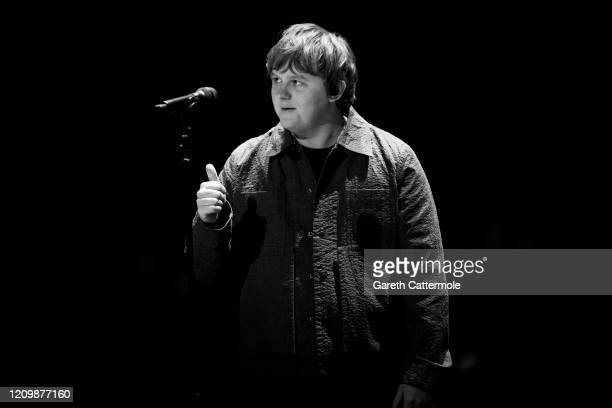 Lewis Capaldi performs during The BRIT Awards 2020 at The O2 Arena on February 18 2020 in London England