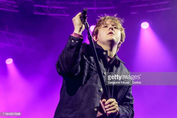 Lewis Capaldi performs on stage at Fabrique Club on October 30 2019 in Milan Italy