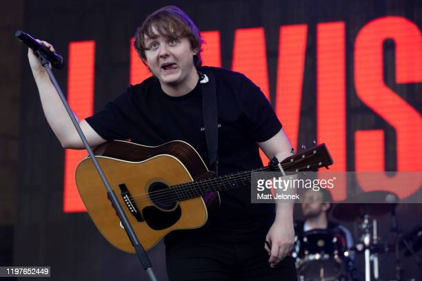 Lewis Capaldi performs on stage at Falls Festival on January 5 2020 in Fremantle Australia