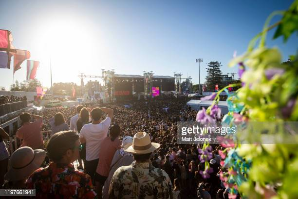 Lewis Capaldi performs on stage at Falls Festival on January 5, 2020 in Fremantle, Australia.