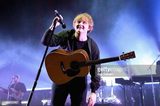 Lewis Capaldi performs on stage at the O2 Academy Brixton on November 29 2019 in London England