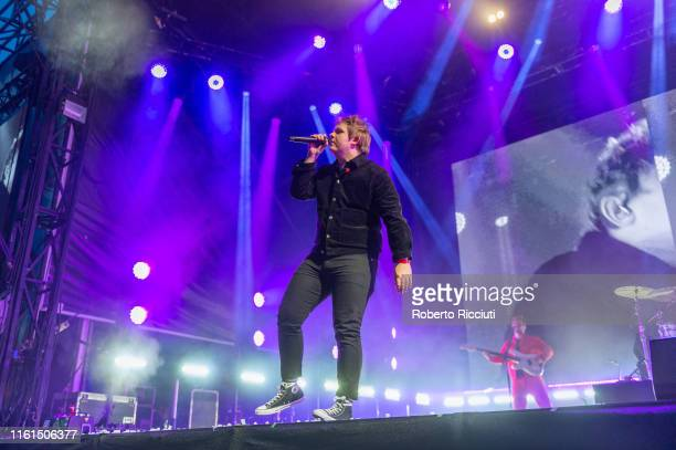 Lewis Capaldi performs on stage during Edinburgh Summer Sessions at Princes Street Gardens on August 13, 2019 in Edinburgh, Scotland.
