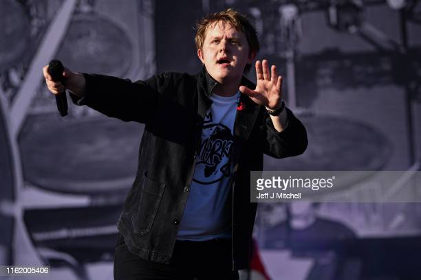 Lewis Capaldi performs on the main stage during the TRNSMT Festival at Glasgow Green on July 14 2019 in Glasgow Scotland A sold out final day will...