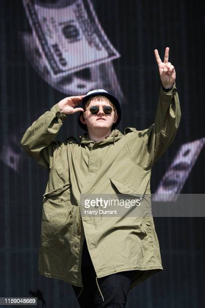 Lewis Capaldi performs on The Other Stage during day four of Glastonbury Festival at Worthy Farm Pilton on June 29 2019 in Glastonbury England