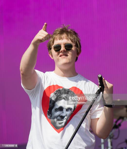 Lewis Capaldi performs on the Other Stage on day four of Glastonbury Festival at Worthy Farm Pilton on June 29 2019 in Glastonbury England