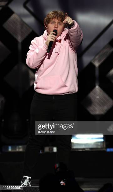 Lewis Capaldi performs onstage during the iHeartRadio's Z100 Jingle Ball 2019 at Madison Square Garden on December 13, 2019 in New York City.