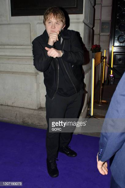 Lewis Capaldi seen attending the BRIT Awards 2020 Universal afterparty at the Ned hotel on February 18 2020 in London England