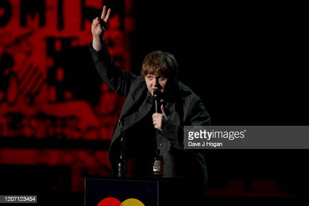 Lewis Capaldi wins the Best New Artist Award at The BRIT Awards 2020 at The O2 Arena on February 18 2020 in London England