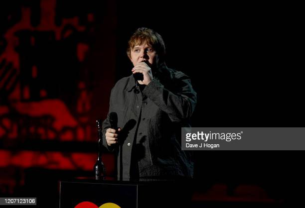 Lewis Capaldi wins the Brit Award for Best New Artist at The BRIT Awards 2020 at The O2 Arena on February 18 2020 in London England