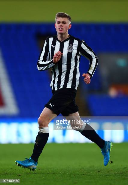 Lewis Cass of Newcastle in action during the FA Youth Cup Fourth Round match between Crystal Palace and Newcastle United at Selhurst Park on January...