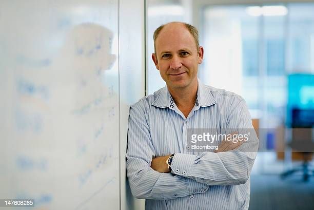 Lewis Cirne chief executive officer and founder of New Relic Inc stands for a photograph in the company's office in San Francisco California US on...