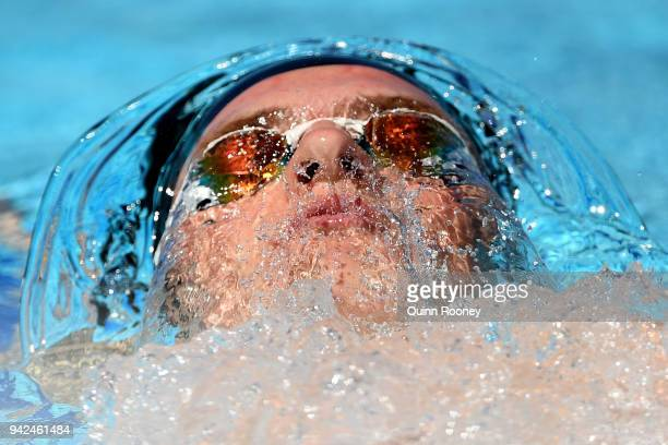 Lewis Clareburt of New Zealand competes during the Men's 400m Individual Medley Heat 1 on day two of the Gold Coast 2018 Commonwealth Games at Optus...