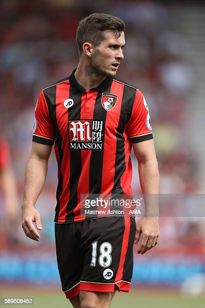 Lewis Cook of AFC Bournemouth during the Premier League match between AFC Bournemouth and Manchester United at Vitality Stadium on August 14 2016 in...