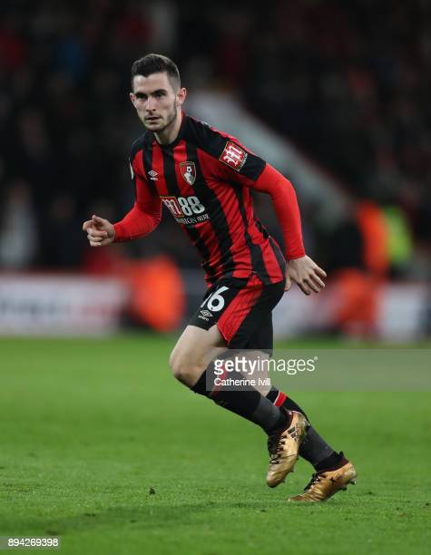Lewis Cook of AFC Bournemouth during the Premier League match between AFC Bournemouth and Liverpool at Vitality Stadium on December 17 2017 in...