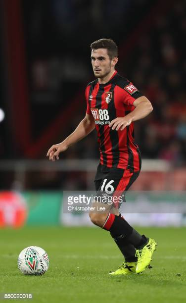 Lewis Cook of AFC Bournemouth in action during the Carabao Cup Third Round match between Bournemouth and Brighton and Hove Albion at Vitality Stadium...