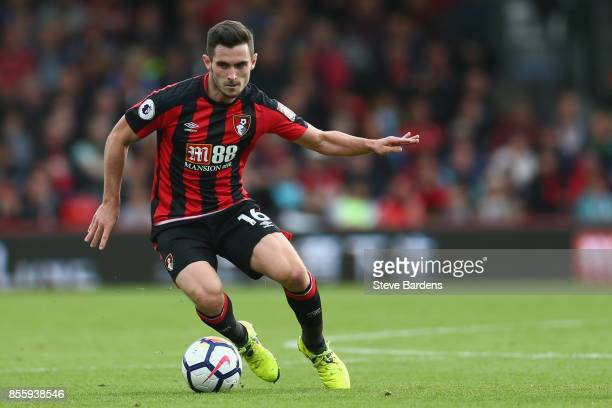Lewis Cook of AFC Bournemouth in action during the Premier League match between AFC Bournemouth and Leicester City at Vitality Stadium on September...
